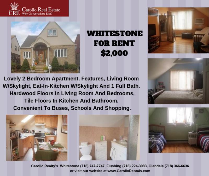 WHITESTONE- FOR RENT $2 000